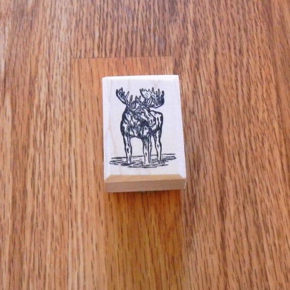 Bull Moose Rubber Stamp