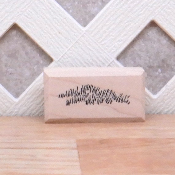 C847GC Hill Grass Rubber Stamp Wood Mounted  SUT