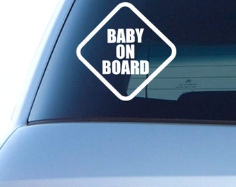 Personalised Child//Baby On Board Car Sign ~ Son On Board ~ L.Blue