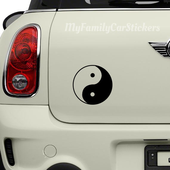 Yin And Yang Vinyl Stickers Decals Laptop Macbook Moto Car Auto Bumper Tablet