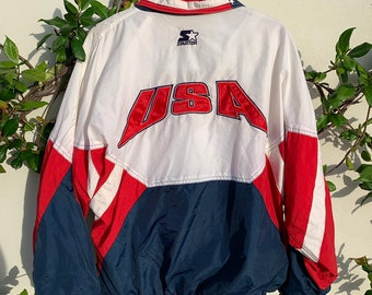 fbb99d04dd73f3 Vintage 1996 Olympic Games Collection Starter Windbreaker