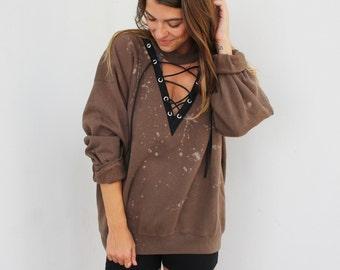 ba6f1cfa6f LF Inspired Sweatshirt - Lace Up Sweatshirt