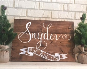 Custom Name Sign I personalized last name sign, rustic wood pallet sign, custom name sign