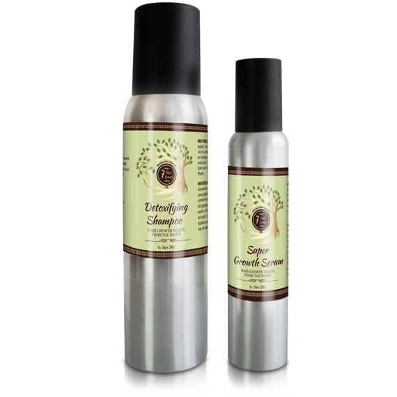 Hair Grow Kit - Hair Growth Oil - Organic Hair Growth - Natural Hair Treatment - Natural Hair Oil - Hair Growth Products