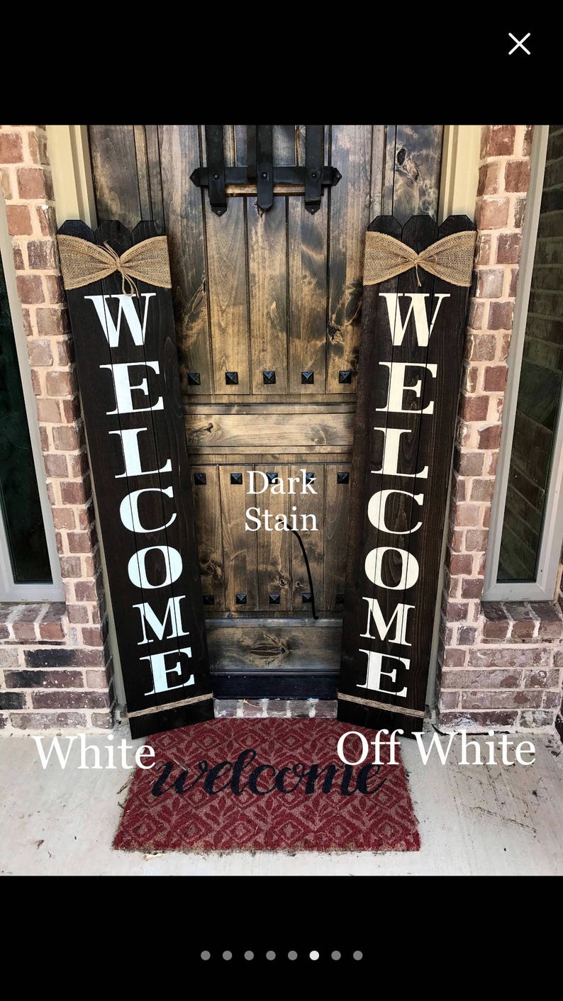 Rustic Welcome Sign 58 Tall Welcome Sign For Front Porch Front Porch Decor Wood Sign Rustic Wood Sign Vertical Wood Welcome Sign