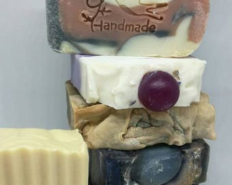 Soaps, Discounted Price Soaps, Soap packages, Choose 3 Soap Bars for discount, Gift Package, For Him, For Her, Handmade Soap,