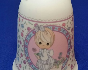 """Precious Moments """"So Glad I Picked You As A Friend"""" Bell/Precious Moments 237027/Vintage Precious Moments/Friendship Bell/Samuel Butcher"""