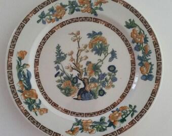 Warwick China 1933 Indian Tree Plate/Hand Painted/Warwick China/Indain Tree/Vintage Plate/Vintage Warwick/Indian Tree Plate/1933