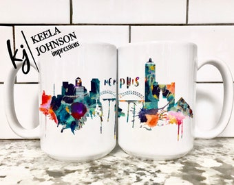 Memphis - Memphis Mug - 901 - Choose 901 - Grizzlies - Grit and Grind - Memphis Skyline - Memphis Skyline Mug - Skyline - Tennessee - Coffee