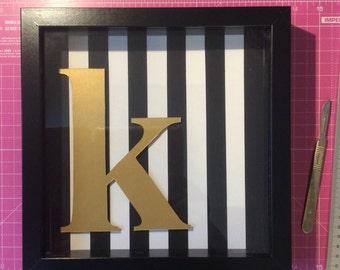 Gold personalised inital papercut