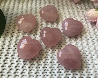 Reiki infused Rose Quartz heart //