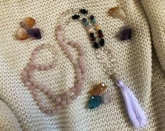 Chakra mala necklace // Reiki infused // 108 beads
