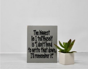 Life quotes | Humor | Signs with quotes | Small sign | Wood wall art | Office decor | Desk sign | Funny