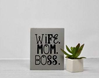 Mantra Motivational Gifts Girl Boss Signs With Quotes Etsy