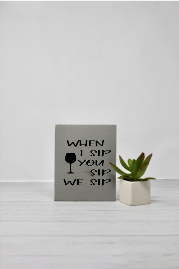 Wine Kitchen Decor Home Bar Small Sign Signs With Etsy