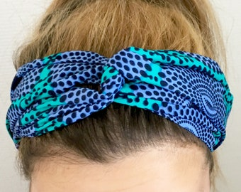 Wax purple Turquoise elastic headband