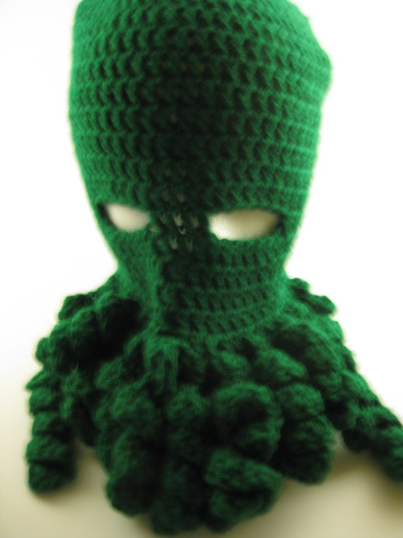 0feec1158e9 Cthulhu Mask XL costume crocheted hat