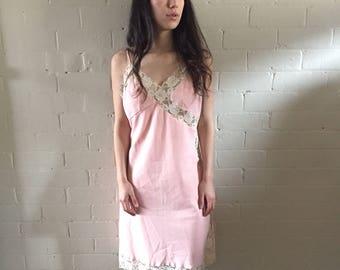 Pink Lace Vintage Slip