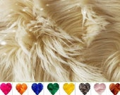 FAST SHIPPING Quality Light Caramel Latte Faux Fur Fabric Piece - Pick size, D I Y Craft, Square, Rectangle, Less than a yard Alternative