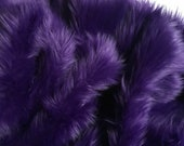 Bianna PURPLE Long Pile Faux Fur Fabric, High Quality Shag Shaggy Material in Pieces, Squares for Crafts, Fursuit, Cosplay