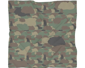 Guinea Pig Camouflage Pattern Scarf