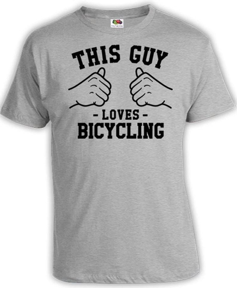 This Guy Loves Bicycling Shirt Bike TShirt Cycling Gift Ideas image 0
