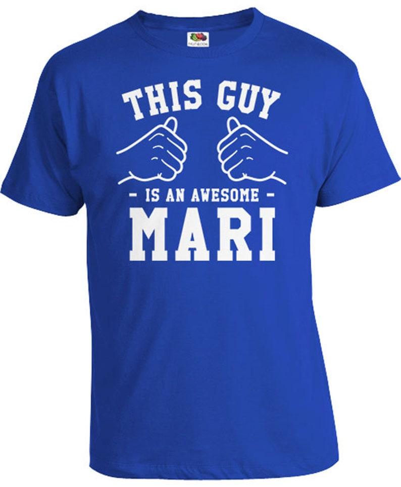 This Guy Is An Awesome Mari Husband Shirt Anniversary T Shirt image 0