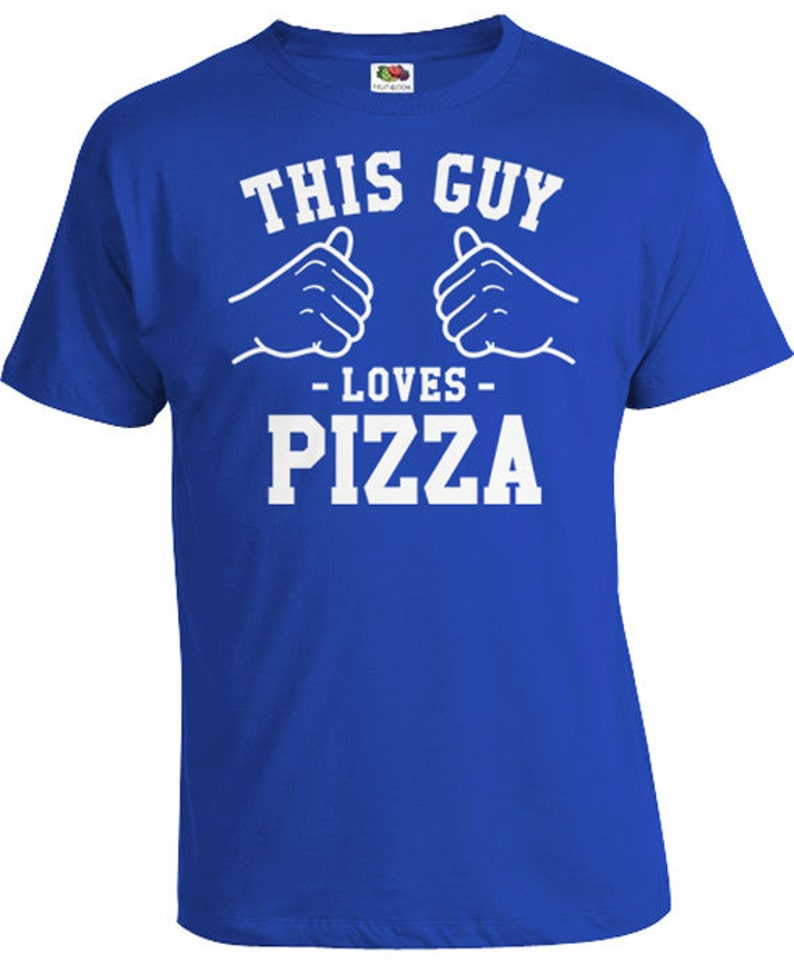 90f690d54 This Guy Loves Pizza T Shirt Foodie Gift Ideas For Him Pizza   Etsy