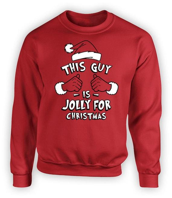 Ce gars aime Noël T-Shirt-Drôle-Adultes /& Enfants Tailles-Blanc