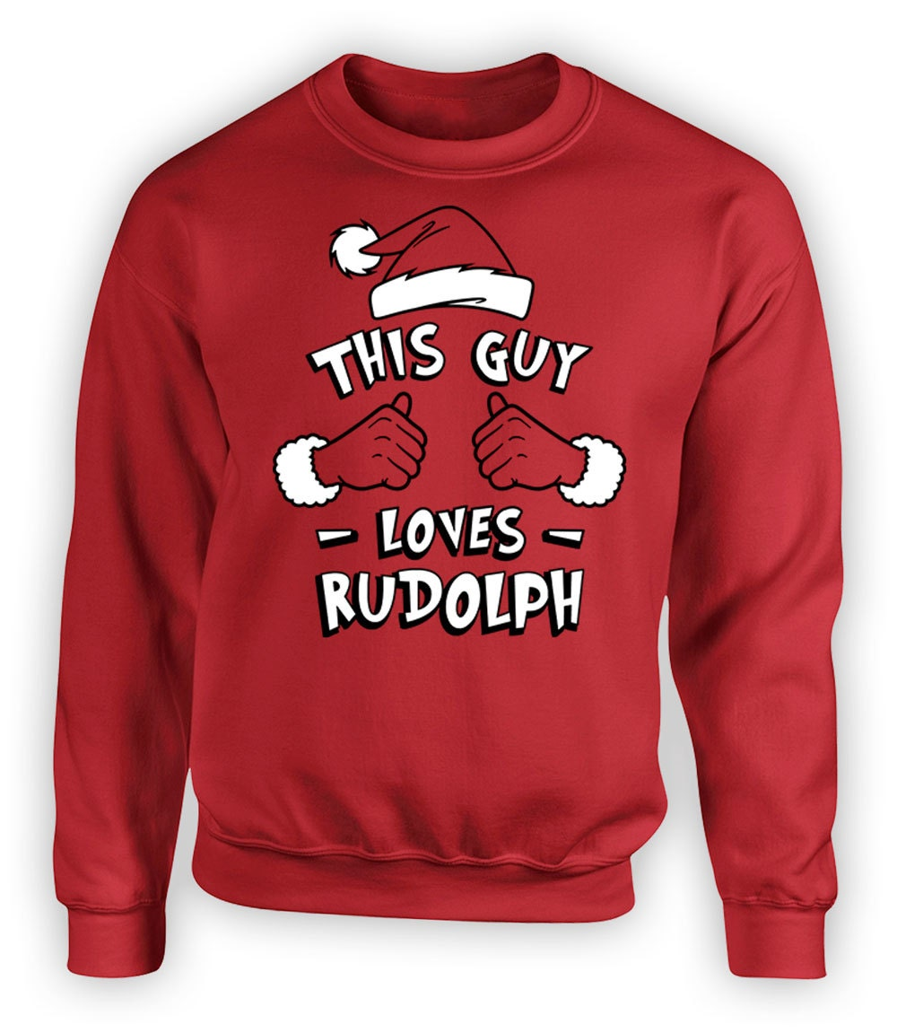 Funny Christmas Gifts For Men This Guy Loves Rudolph Sweater | Etsy