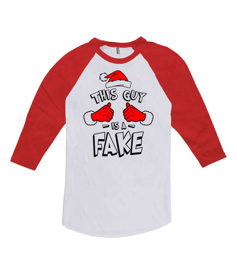 c66e297c9843 Funny Christmas T Shirt This Guy Is A Fake Christmas Present