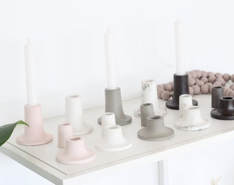 Candle Stick Holder in Concrete