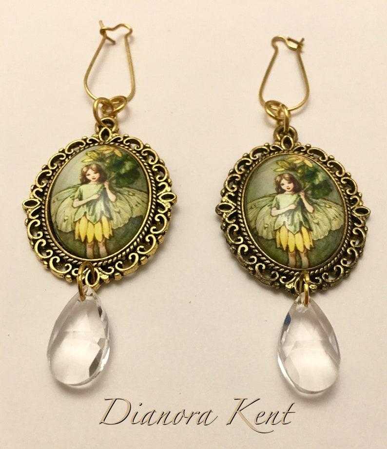 Celandine Flower Fairy earrings
