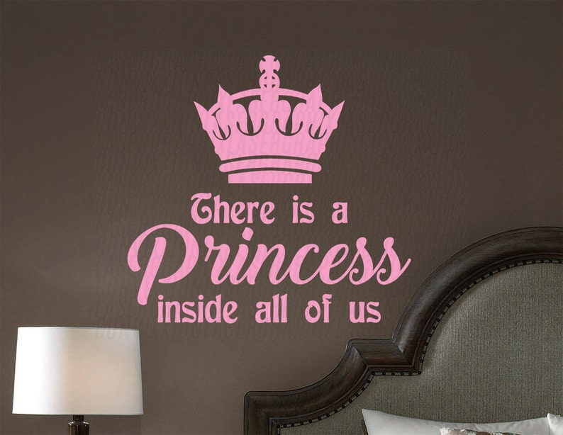 Great for Bedroom Living Girls Teen Bathroom Home Decor There is a Princess inside all of us Quote Wall Vinyl Decal Stylish Design