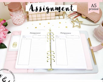 assignment planner printable student planner academic etsy