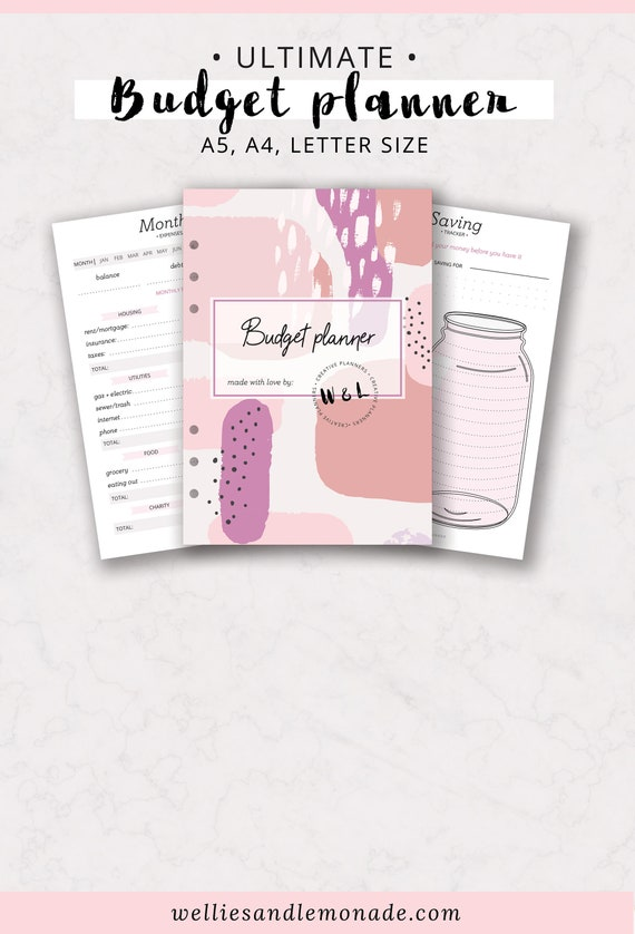 finance planner budget planner printable debt payoff etsy