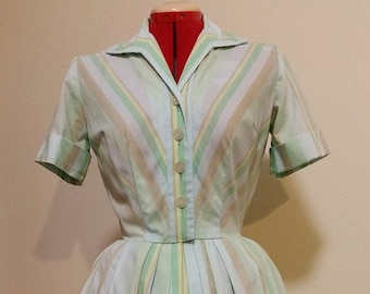 Vintage Shirt Waist Dress by Nelly Don