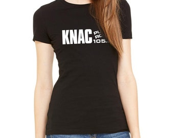 e545ed4f KNAC Vintage Heavy Hard Metal Rock Radio Station Women's Black T-Shirt