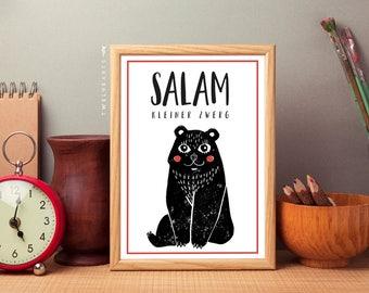 Salam small Dwarf, print, baby, newborn