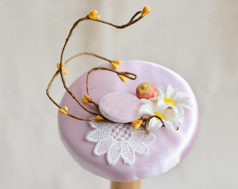 tea party hats for women Kentucky Derby Hat Fancy Hat lace flowers Derby Hat with berries weddding hat races hat girl pink wedding hat