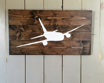 Airplane Sign   Aviation Sign   Pilot Gift   Aviation Wood Sign   Aviation Gift   Airliner   Boys room Decor   living room decor