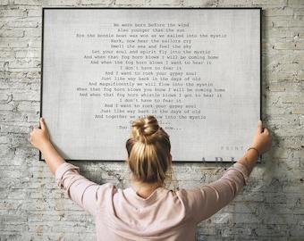 Song Lyric Wall Art | First Dance Lyrics Print | First Anniversary Gift | Song Lyrics Print | Vows Sign | Couples Anniversary Gift Framed