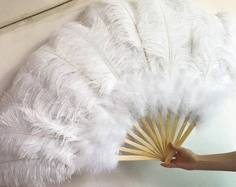 Burlesque fans,Dance Feather Fans,ostrich feather fans,SIZE:32inchX18inch ,wedding bridal feather hand fans for bridesmaids