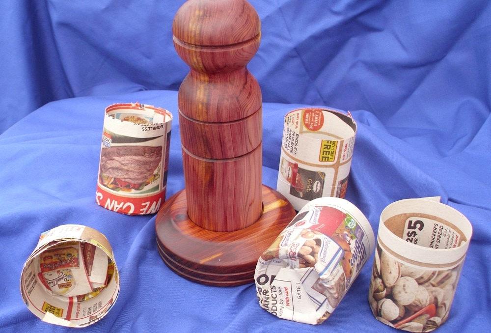 Fabricant de Pot en papier / journal journal journal Pot Maker / jardin de printemps / jardinage cadeau / outil de jardin / départ / petit Pot de rocaille / cache-pot 087f29