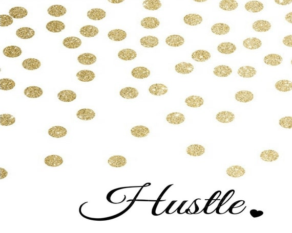 Girl Boss Hustle Gold 3pc Office Motivation Quote Wall Art Digital Printable
