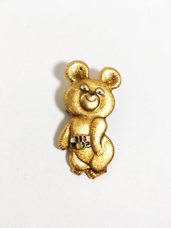 Russian mascot from USSR Olympic Games Moscow 1980 Soviet memorabilia Vintage bear Misha Olympic Symbol Misha Bear