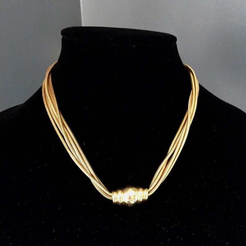 Vintage 18 Inch Copper Tone Metal Muti Strand Chain Necklaces 2 Pieces