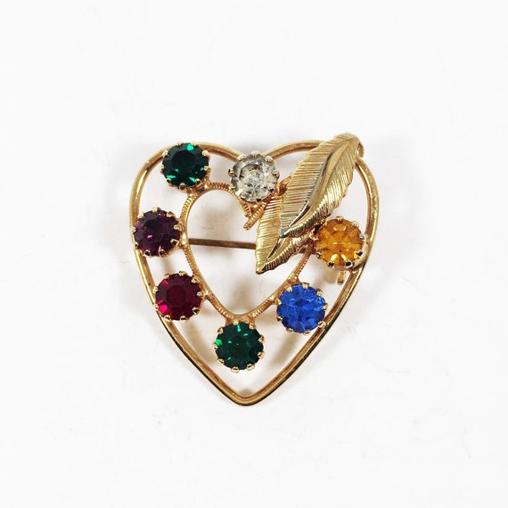 Grandma gift Gold Brooch vintage Gold crystal brooch 1960s/' brooch Art nouveau brooch Old Czech jewelry Vintage gift for mother Rare brooch