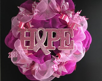 Hope Breast Cancer Awareness wreath