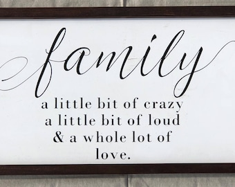 Farmhouse family wall mounted wooden sign